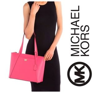 NEW Michael Kors Maddie Leather Tote Bag